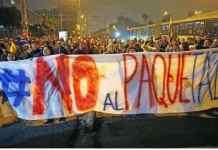 Protestas contra paquetazo en Ecuador