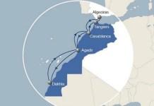 La compañía naviera francesa CMA CGM explica en su web el enlace con Algeciras.