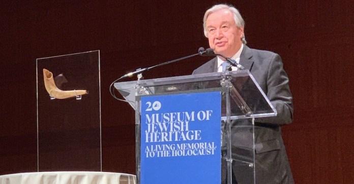 ONU/Antonio Ferrari: El Secretario General, António Guterres, visita el Museo de Holocausto en Nueva York.