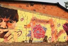 Misión de la ONU en Colombia/Bibiana Moreno: Mural abogando por los derechos indígenas en Colombia