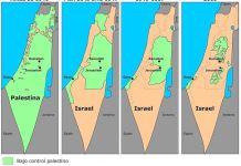 Evolución de los territorios israelí y palestino desde 1946