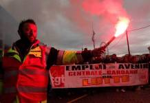 CGT: manifestación contra la reforma de las pensiones propuesta por el Gobierno Macrón en Francia