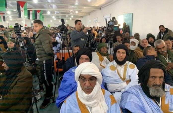 Delegados durante el 15º Congreso celebrado en Tifariti
