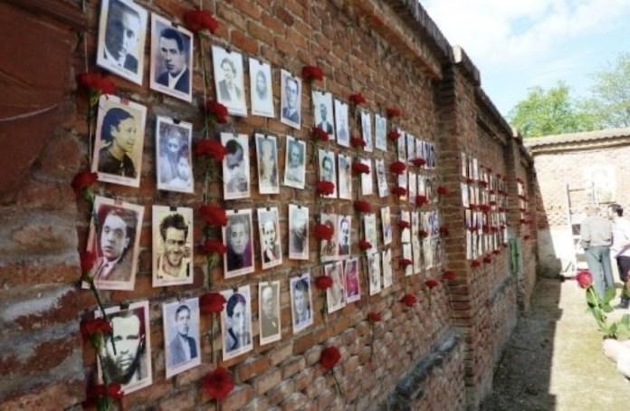 Muro del cementerio del Este, antguo cementerio de La Almudena) sobre el que se ejecutaron a presos antifranquistas