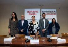 Laila Jiménez, Alfonso Armada, Pepa Bueno, Matthew Caruana y Elaíze Farias. Foto: Elena Hidalgo / APM