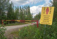 Una de las sendas entre Finlandia y Rusia