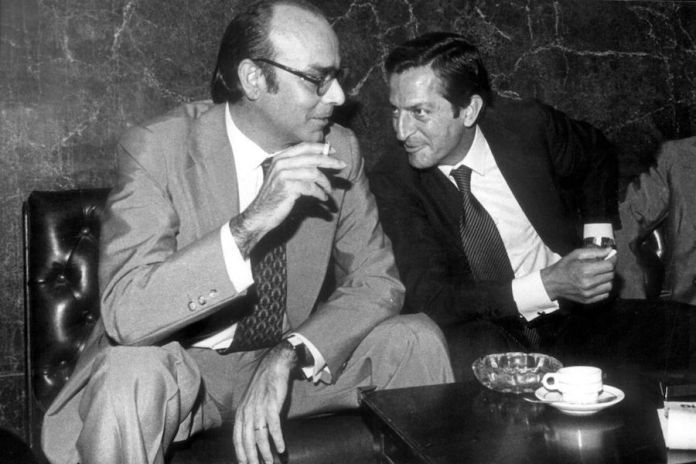Abril Martorel con Adolfo Suárez