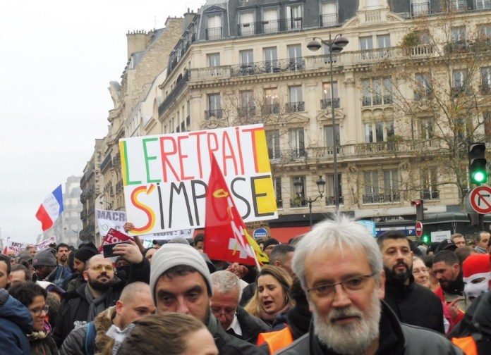 Paris manifestaciones anti Macron