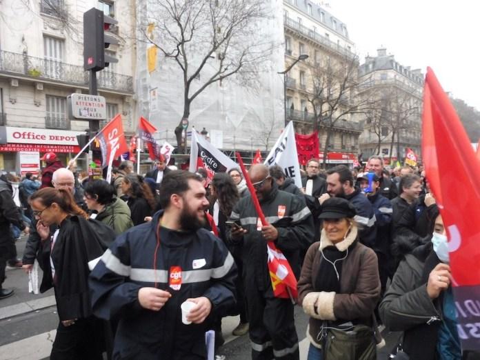 Paris manifestantes CGT