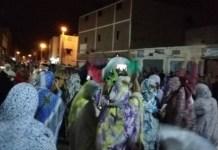 Manifestación en las calles de El Aaiún en el Sahara.