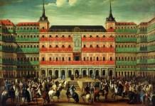 Luis Paret: Proclamación de Carlos III en la Plaza Mayor de Madrid, 1760