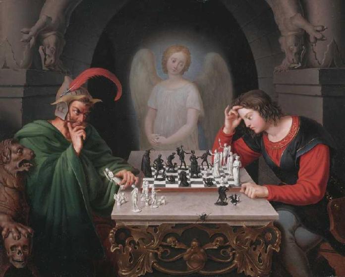 'Jaque mate' o 'Los jugadores de ajedrez' de Friedrich Moritz August Retzsch