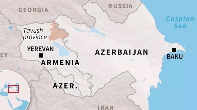 Frontera Armenia y Azerbaiyán