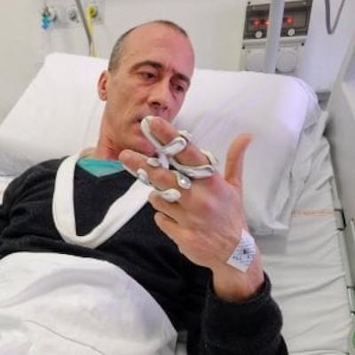 Stefano Origone hospitalizado