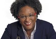 Mia Mottley, primera ministra de Barbados