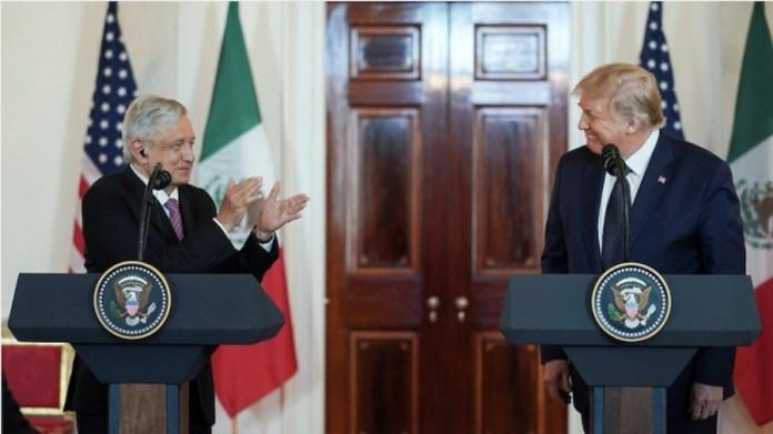 López Obrador en un encuentro con Donald Trump