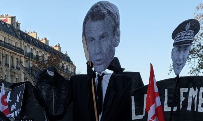 Manifestación en París. 28NOV2020