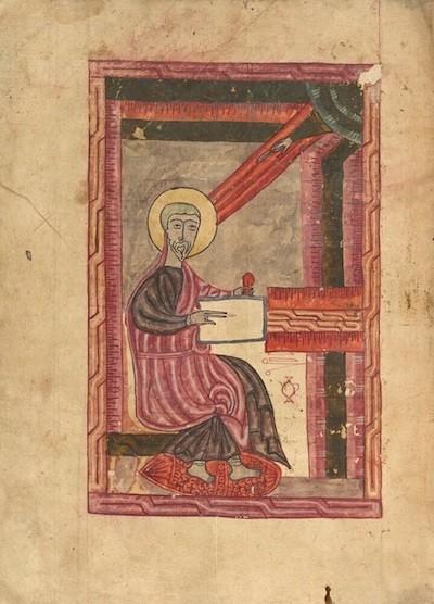 San Mateo, imagen de la segunda adquisición del Evangelio de 1583