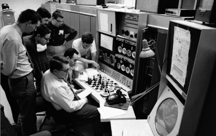 El equipo del programa Mac Hack, entre ellos, Richard Greenblatt