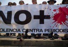 Imagen de una protesta en México, donde fueron asesinados ocho periodistas en 2020, para rechazar la violencia contra los profesionales de la comunicación, un problema extendido en varias regiones del planeta, según reportes de la Unesco. Foto: Desinformémonos