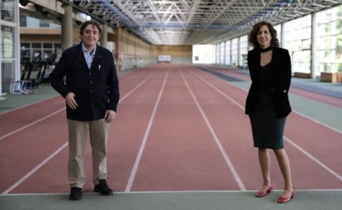 Luis García Montero e Irene Lozano en el CSD 18FEB2021