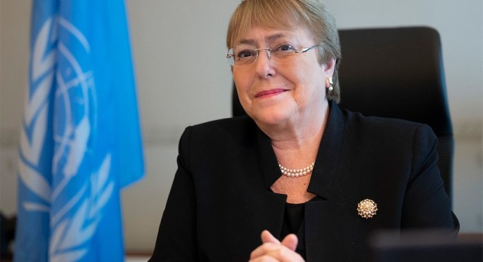 Michelle Bachelet  en Ginebra, 22FEB2021