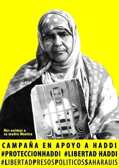 Munina, la madre de Haddi, en el cartel de una campaña solidaria