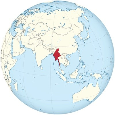 Birmania Myanmar en el mundo