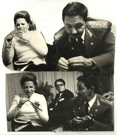 Teresa Gurza con Raúl Castro, entrevista en 1975