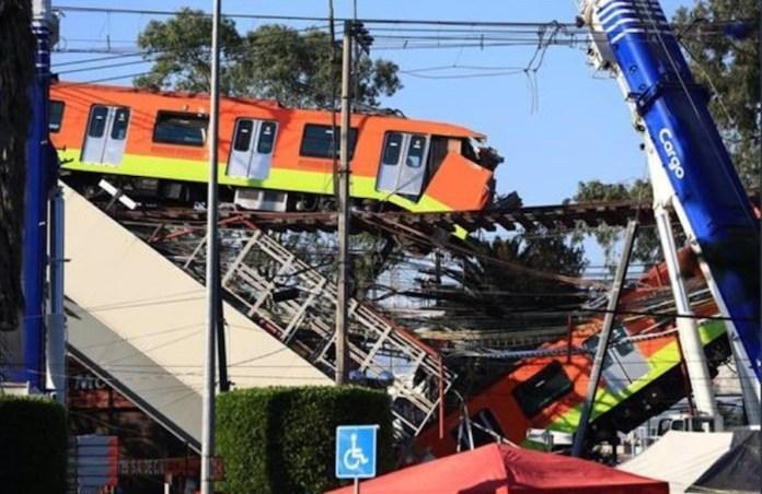 Metro Ciudad México línea 12 hundida