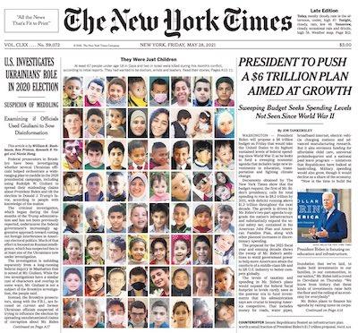NYT portada menores palestinos