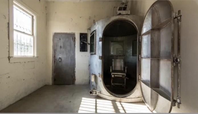 Cámara de gas en la prisión Wyoming Frontier, de Rawlins