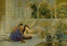 «Juego del ajedrez» del ilustrador estadounidense Edwin Lord Weeks.