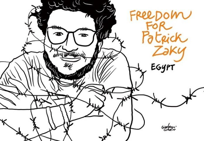 Patrick Zaki libertad © Gianluca Constantini.