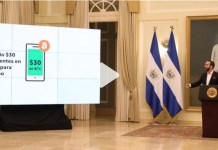 Bukele en la presentación del bitcoin como criptomoneda oficial en El Salvador