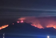 Maite Arnáiz, imagen del incendio desde una terraza de Estepona, 12SEP2021 23:00 horas