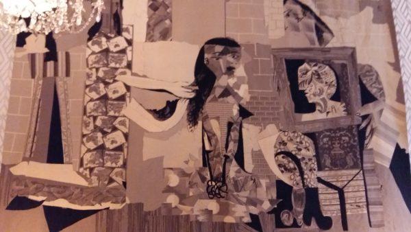 """Nuevo tapiz """"Femme à la toilette"""" basado en el collage homónimo de Picasso. Residencia de Francia 02/02/17"""