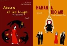 Carteles franceses de Ana y los lobos y Mamá cumple cien años