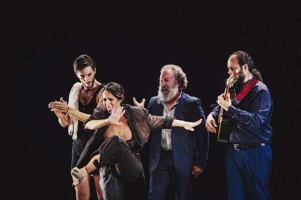 Ana Morales con Juan José Amador al cante Antonio Suárez, Canito, en la guitarra © Óscar Romero 010