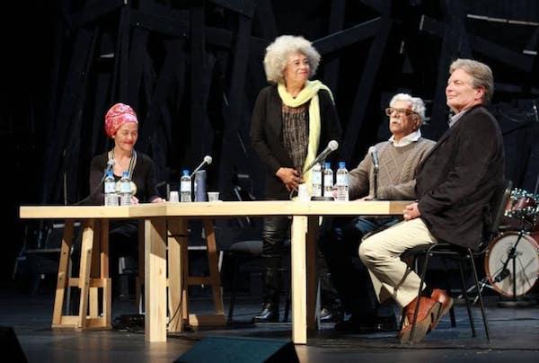 Angela Davis y Tariq Ali en Nanterre MAY2018