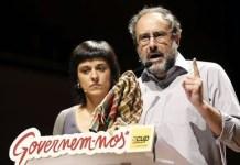 Anna Gabriel y Antonio Baños. líderes parlamentarios de la CUP