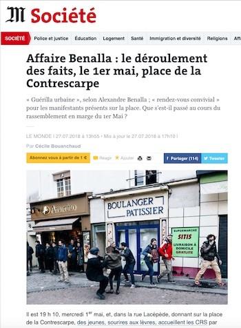 Benalla Le Monde 20180727