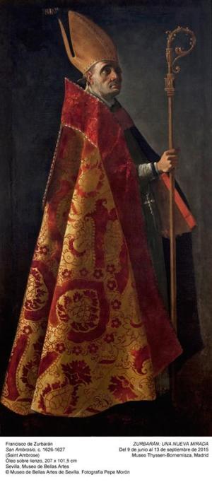 FRANCISCO DE ZURBARAN. SAN AMBROSIO. MUSEO DE BELLAS ARTES DE SEVILLA