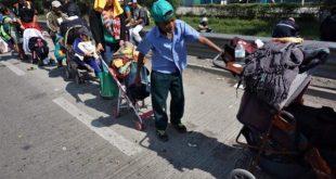 La caravana migrante centroamericana se reafirma en México