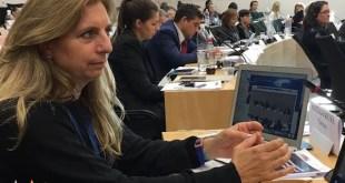 Carmen Santiago Reyes en unas jornadas sobre delitos de odio contra la población gitana