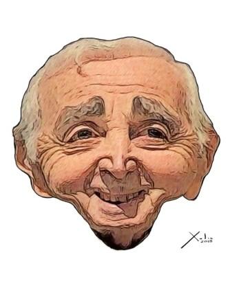 Charles Aznavour por Xulio Formoso
