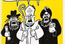 Viñeta de Charlie Hedo sobre los integrismos religiosos