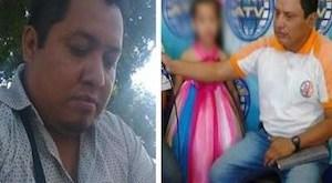 Danilo López, y Federico Salazar, corresponsales de Prensa Libre y Radio Nuevo Mundo, respectivamente. Imagen tomada de twitter