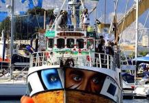 Barco de la Flotilla de la Libertad rumbo a Gaza en 2018