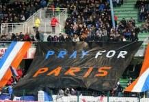 En los estadios de Francia se guarda tiempo de silencio por la víctimas de los atentados en París. Foto: ANDES/AFP